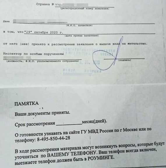 ВНЖ по программе носитель русского языка